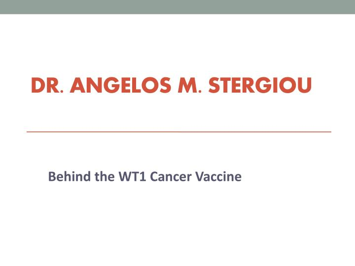 dr angelos m stergiou