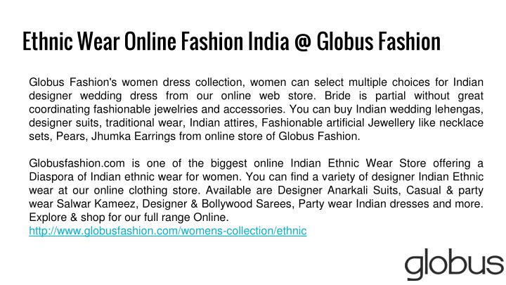 Ethnic Wear Online Fashion India @ Globus Fashion