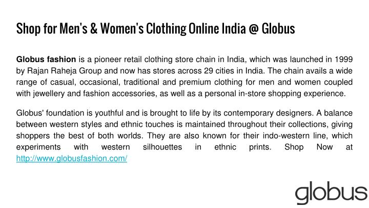 Shop for men s women s clothing online india @ globus