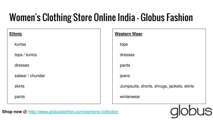 Women's Clothing Store Online India - Globus Fashion