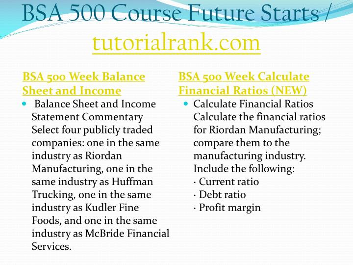 Bsa 500 course future starts tutorialrank com1