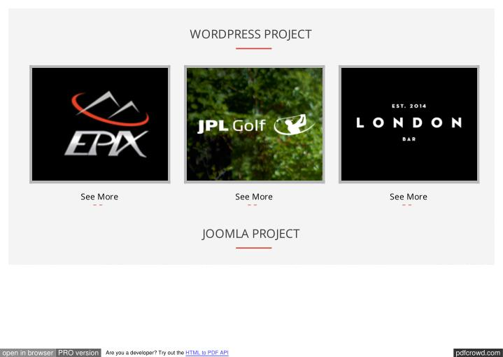 WORDPRESS PROJECT