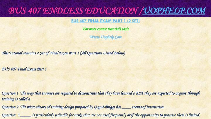 Bus 407 endless education uophelp com2