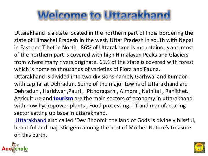 Welcome to uttarakhand