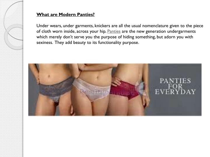 What are Modern Panties