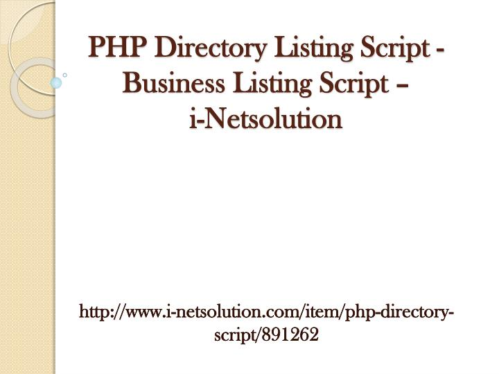 Php directory listing script business listing script i netsolution