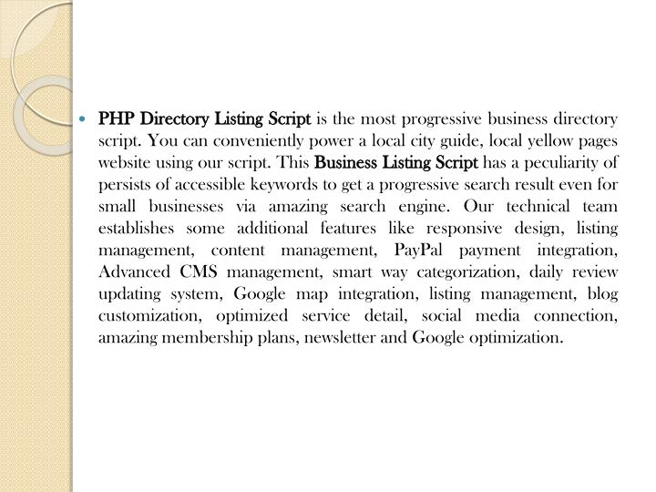 PHP Directory Listing Script