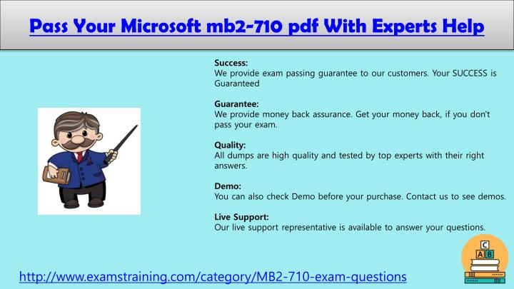 Pass Your Microsoft mb2-710 pdf With Experts Help