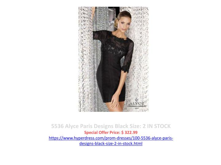 5536 Alyce Paris Designs Black Size: 2 IN STOCK