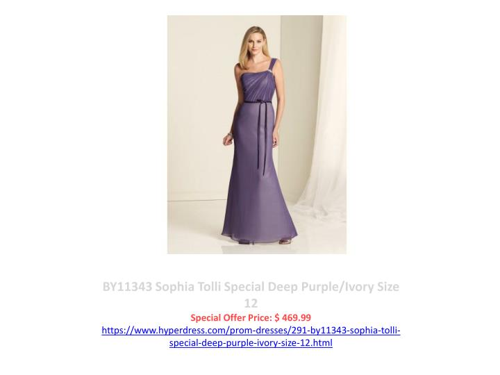 BY11343 Sophia Tolli Special Deep Purple/Ivory Size 12