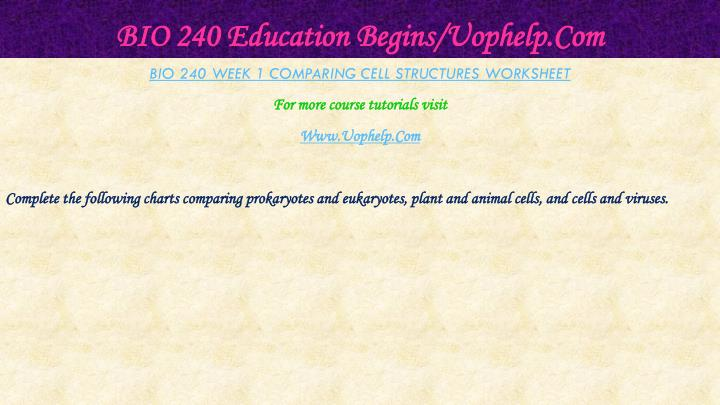 Bio 240 education begins uophelp com2