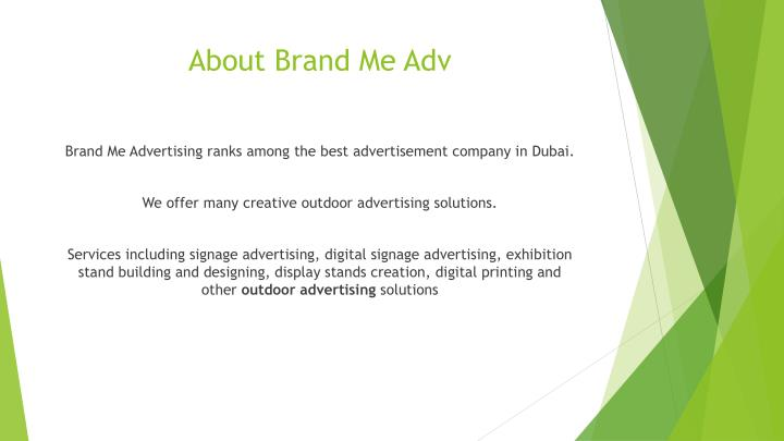 About brand me adv