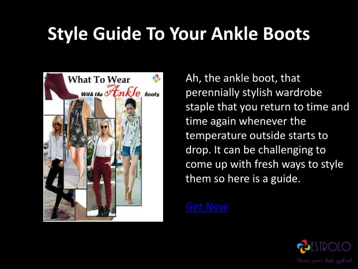 Style Guide To Your Ankle Boots