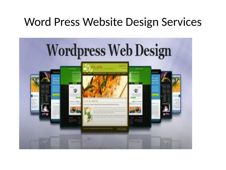 Word Press Website Design Services