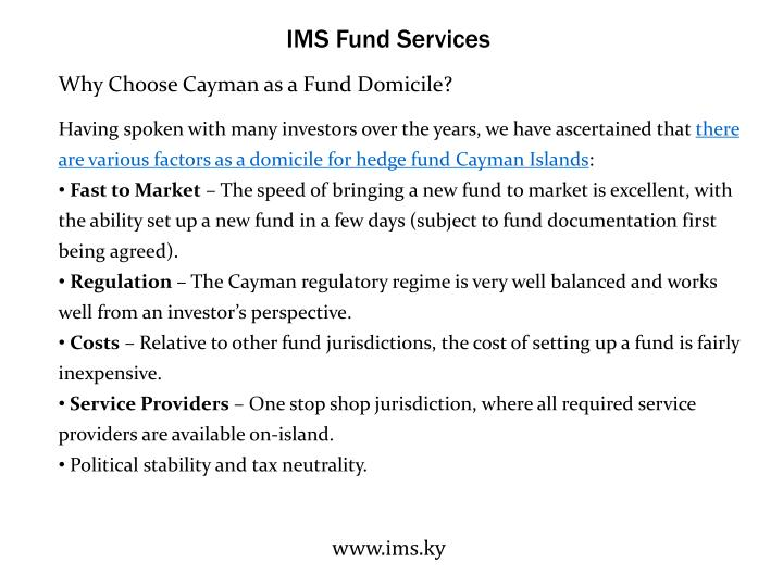 IMS Fund Services
