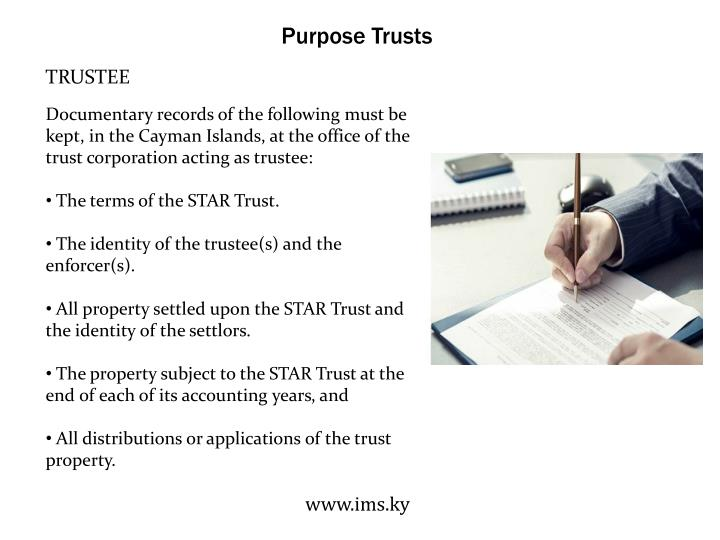Purpose Trusts