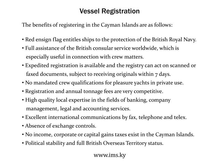 Vessel Registration