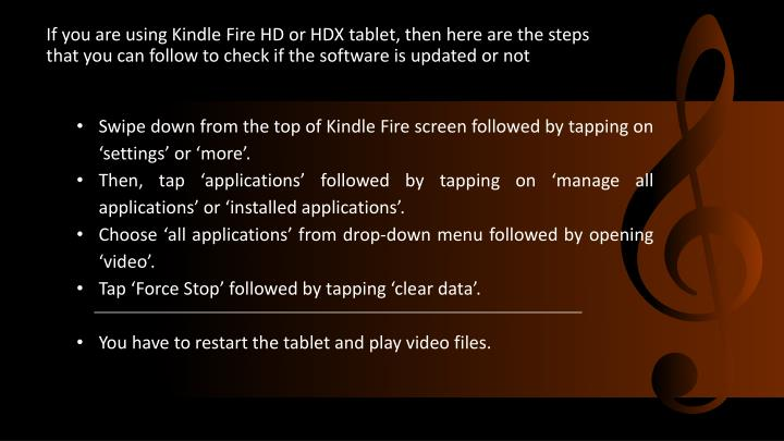 Swipe down from the top of Kindle Fire screen followed by tapping on 'settings' or 'more'.