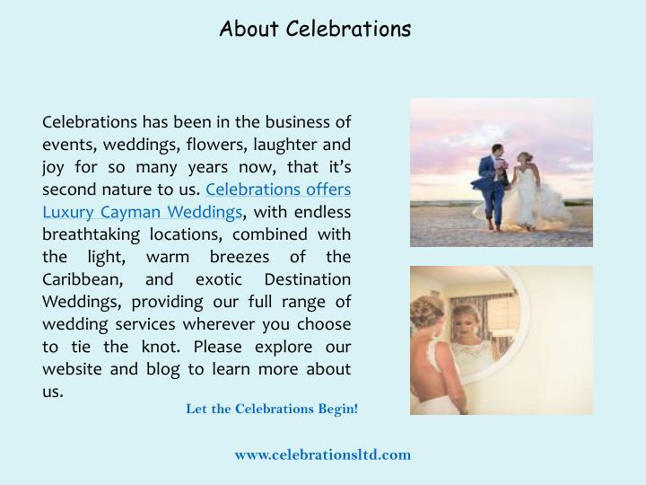 About Celebrations