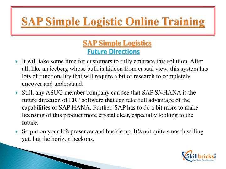 SAP Simple Logistic Online Training