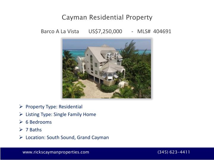 Cayman Residential Property