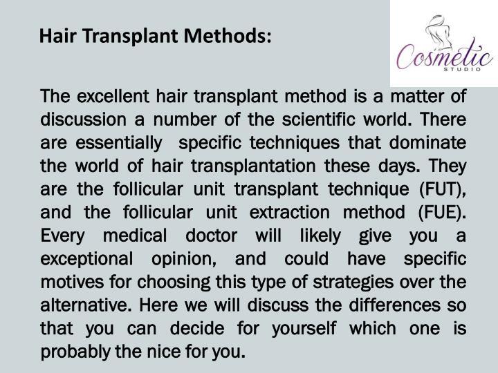 Hair Transplant Methods: