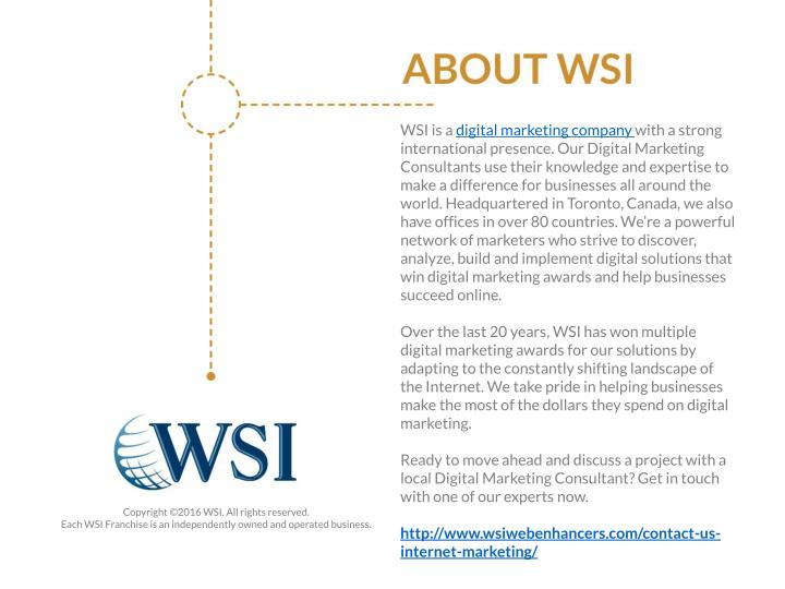WSI is a