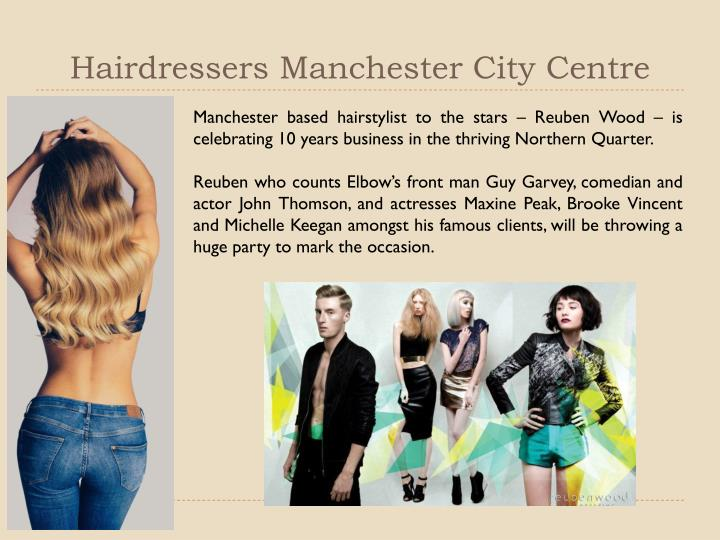 Hairdressers manchester city centre
