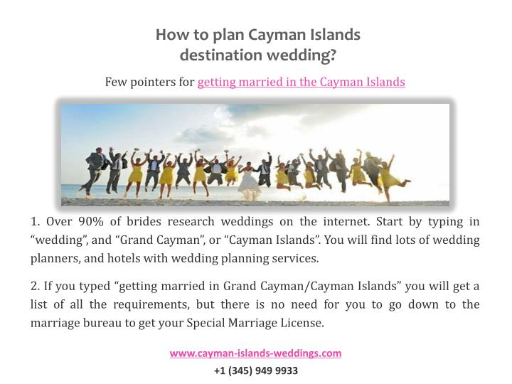 How to plan Cayman Islands destination wedding?