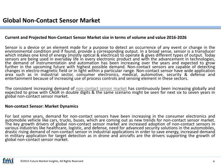 Global Non-Contact Sensor Market