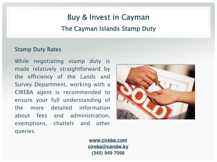 Buy & Invest in Cayman