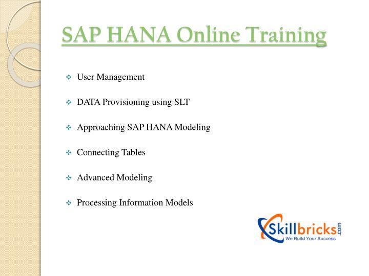 SAP HANA Online Training