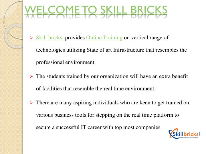Welcome to Skill bricks