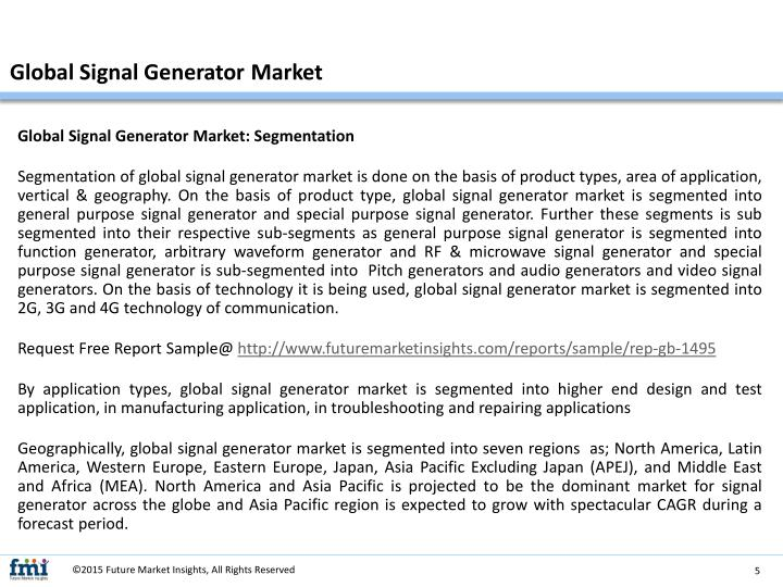 Global Signal Generator Market