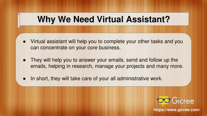Why We Need Virtual Assistant?