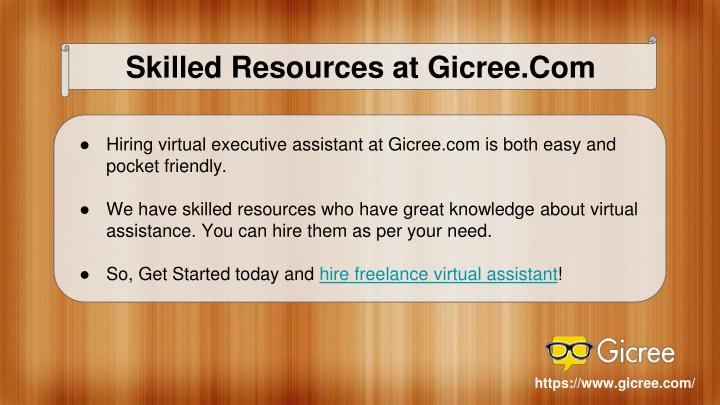 Skilled Resources at Gicree.Com