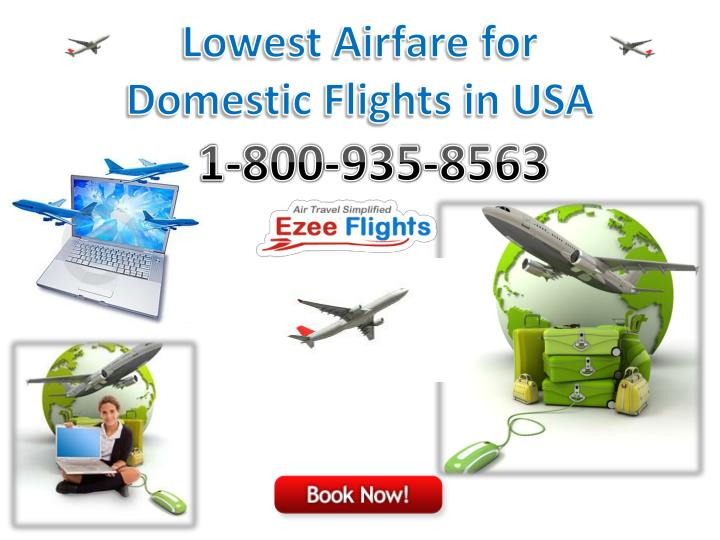 Lowest Airfare for Domestic Flights in USA