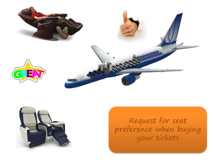 Request for seat preference when buying your tickets