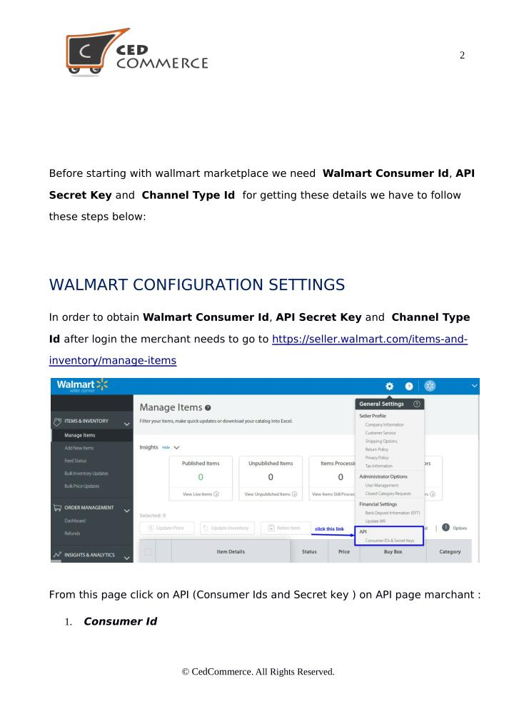 Walmart woocommerce integration by cedcommerce