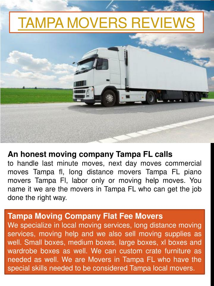 Tampa Movers Reviews