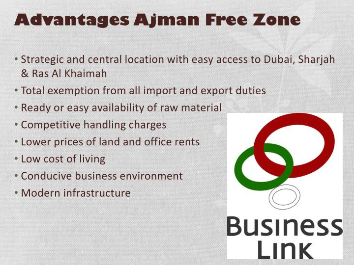 Advantages Ajman Free Zone