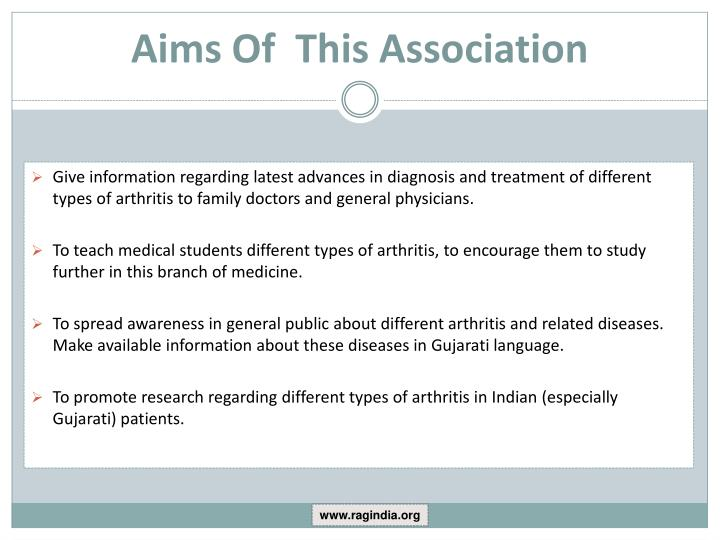 Aims Of  This Association