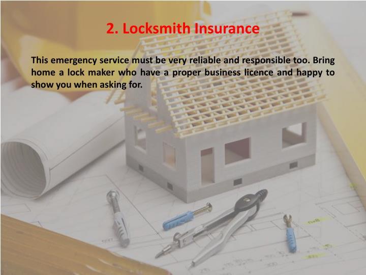 2. Locksmith Insurance