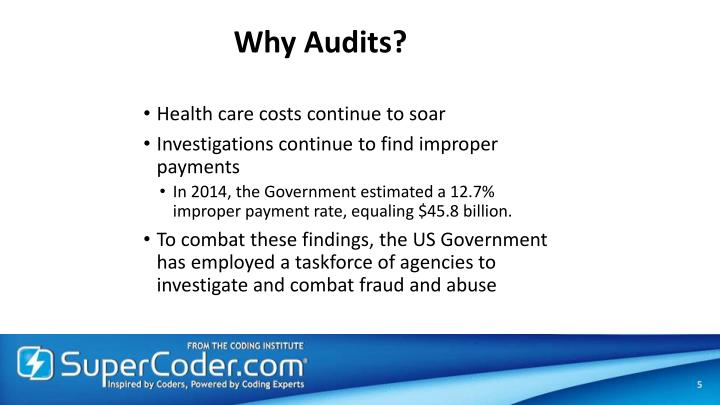 Why Audits?
