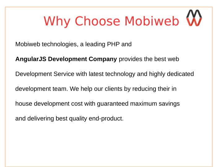 Why Choose Mobiweb