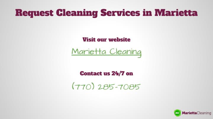 Request Cleaning Services in Marietta