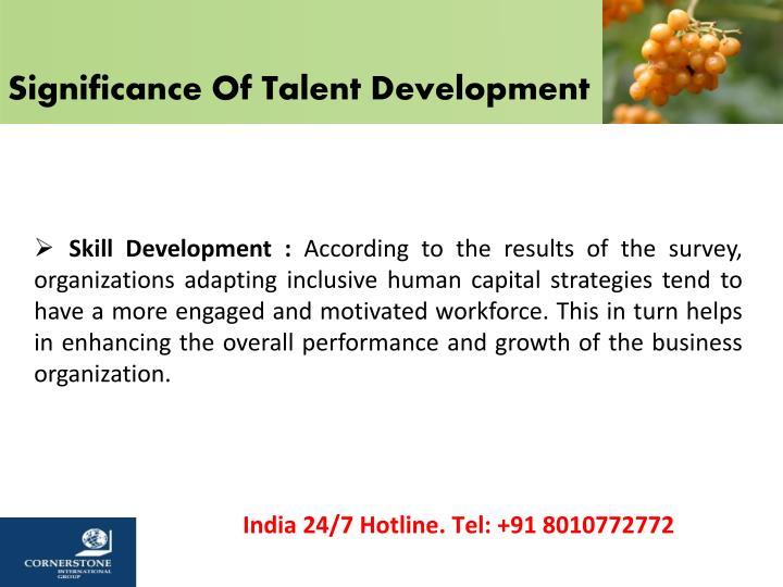 Significance Of Talent Development