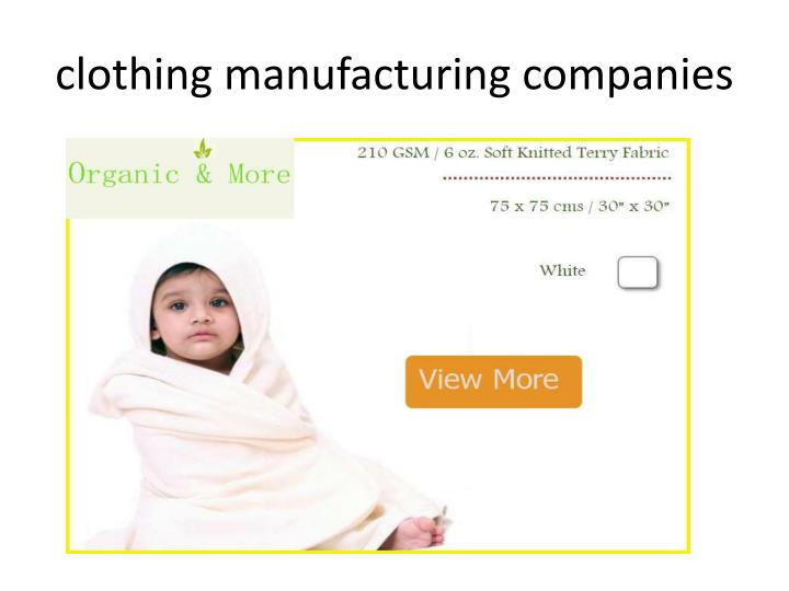 clothing manufacturing companies
