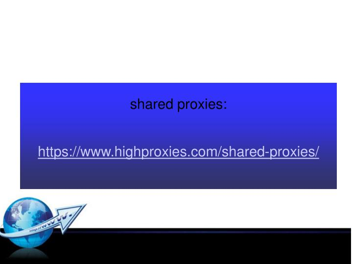 shared proxies:
