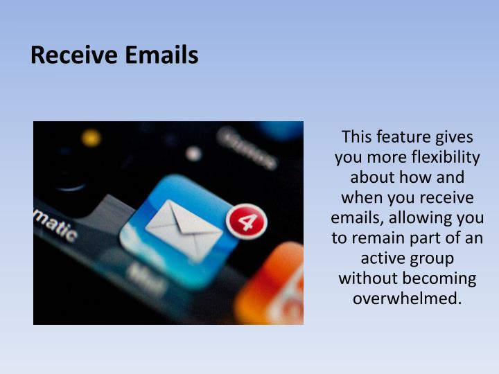 Receive Emails
